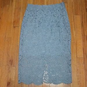 H&M Lace Pencil Skirt NWOT